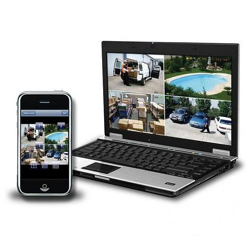 Smart Phone or Tablet, CCTV viewer remote set-up