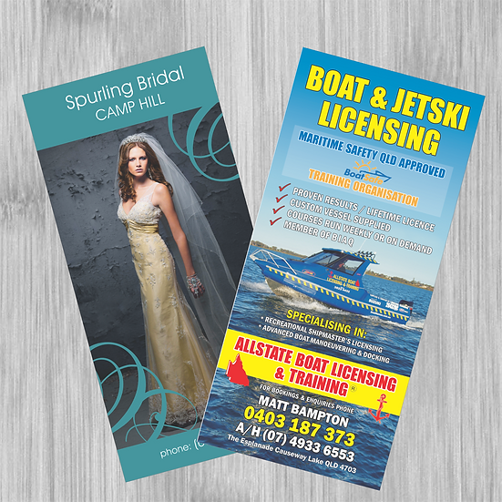 DL Fliers - 150gsm gloss Single sided