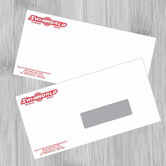 500 x DL Envelopes 2 PMS Colours