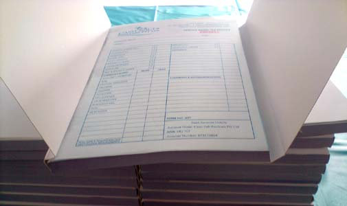 5 x A5 Triplicate Books - 50 sets per book