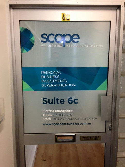 frosted glass indoor signage
