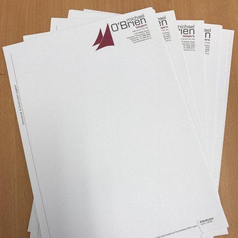 Full colour letterheads - Digitally Printed