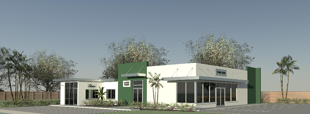 Rendering showing our new face-lift redesign of their existing building