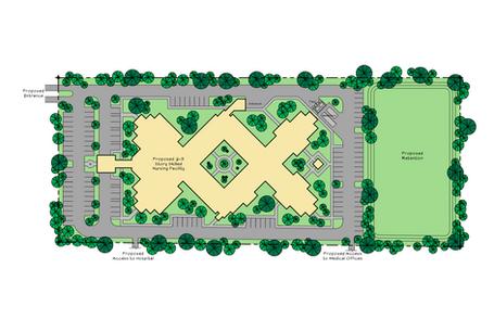Proposed Skilled Nursing Facility Site Design