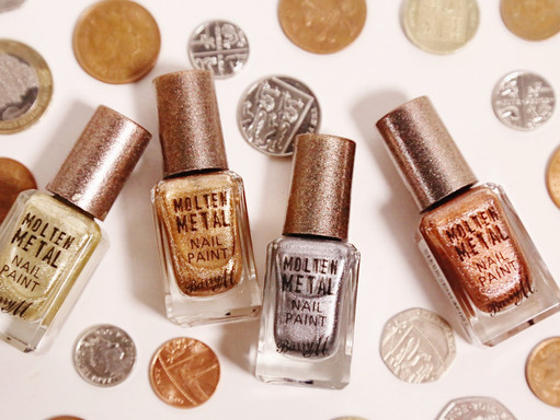 BARRY M // MOLTEN METAL NAIL PAINTS - REVIEW AND SWATCHES