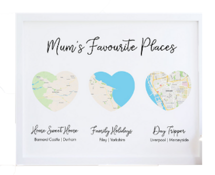 MOTHERS DAY MAP PRINT