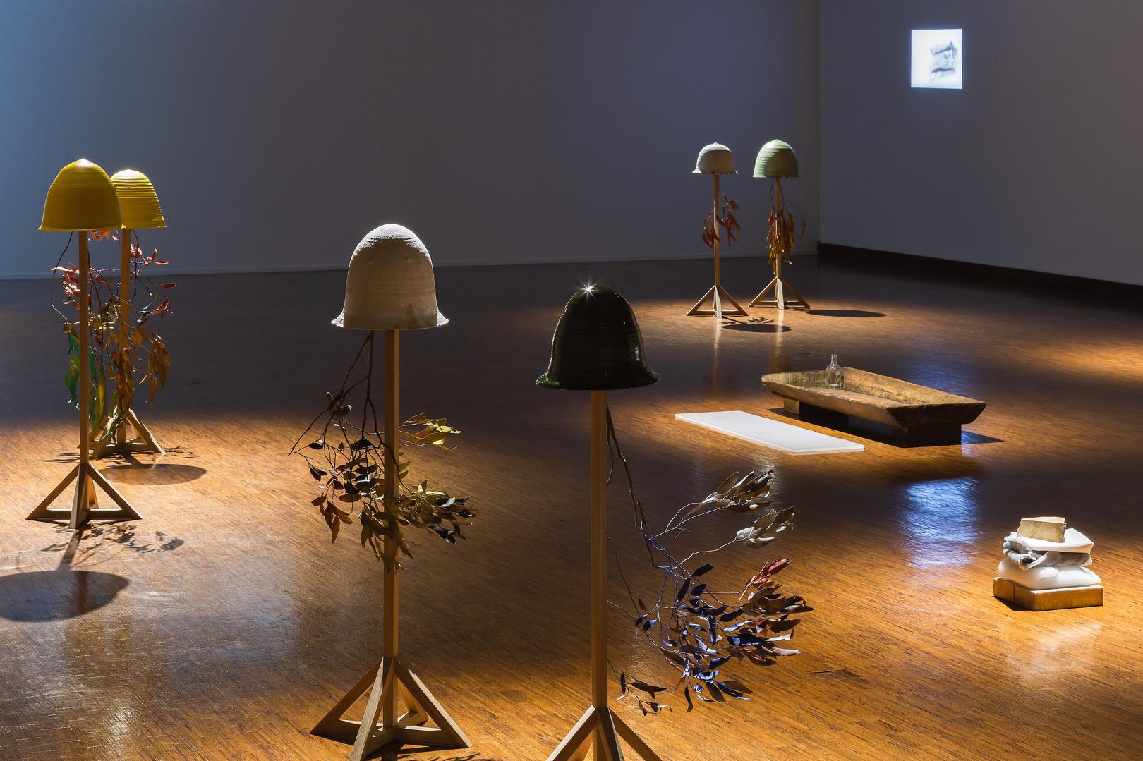 Estudos do Labirinto Museu Nacional de Etnologia Vista da exposição de Francisco Tropa e Teresa Carepo