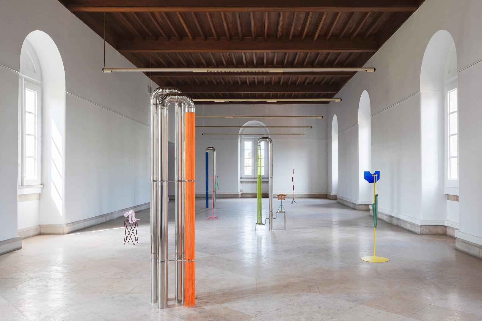 Estudos do Labirinto Museu de Marinha Vista da exposição de Ana Santos e Belén Uriel, 2018