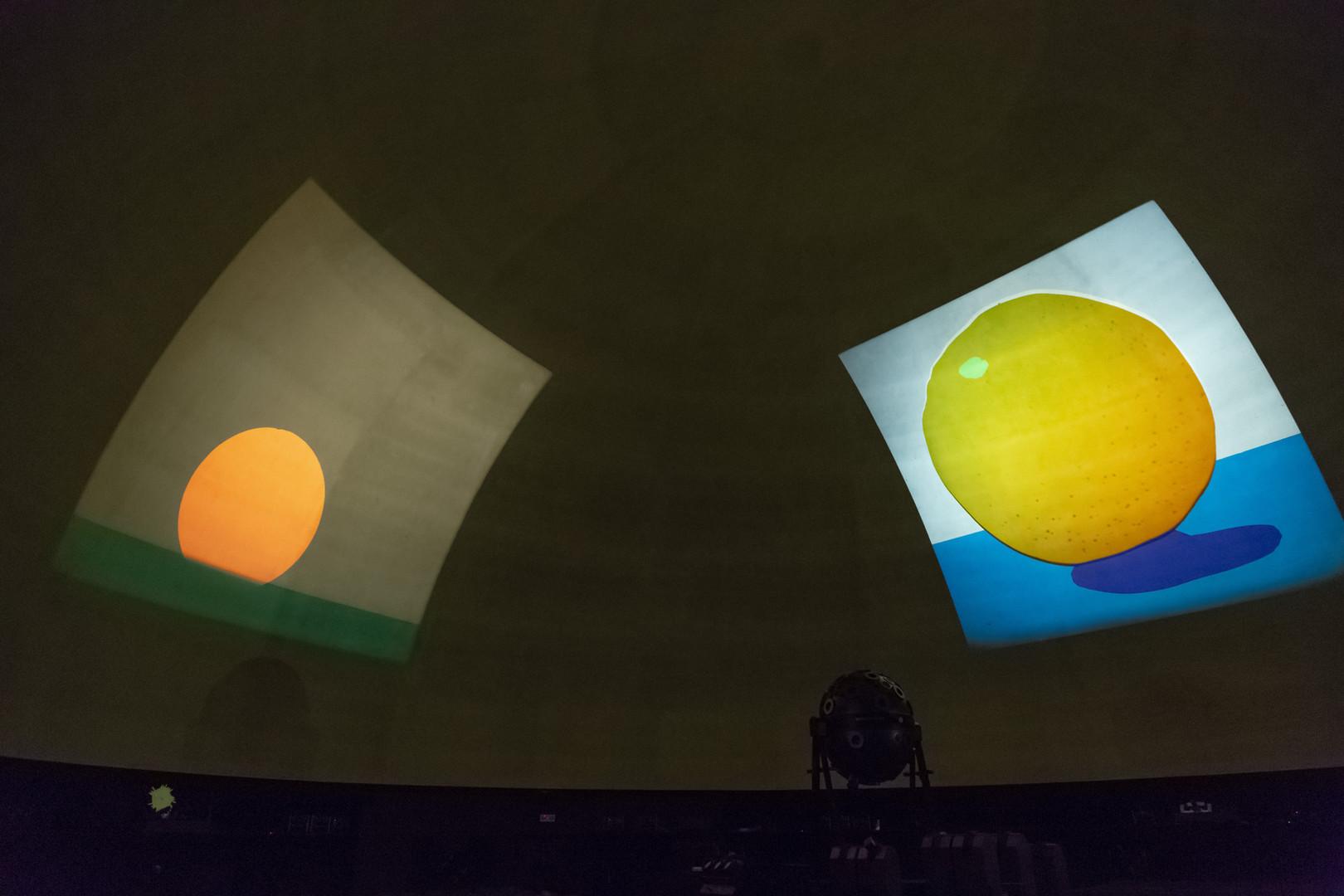 Estudos do Labirinto Planetário Calouste Gulbenkian Vista da Instalação de João Maria Gusmão+Pedro Paiva, 2018