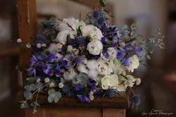 Bouquet hiver bleu
