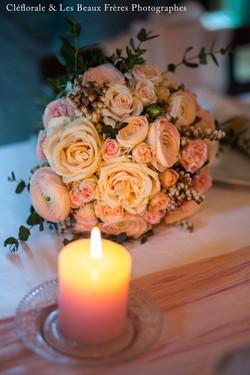 bouquet table mariée