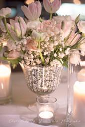 bouquet vase mercurisé