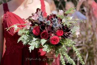bouquet rouge rose piano