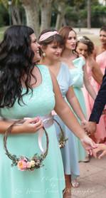 bouquet demoiselles d'honneur rond sac