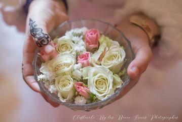 porte alliances cristal et rose
