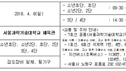 2018년 제2차 서울시승단심사 안내