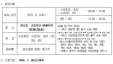 2018년 제4차 서울시승단심사 안내
