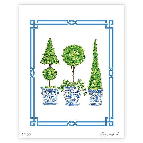 #10184 Ivy Topiary Trio 1 Print