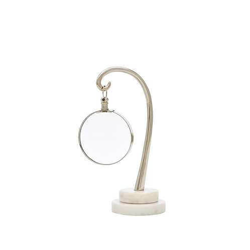 #10349 Magnifying Glass, Polished Nickel