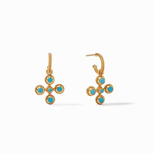#10398 Somerset Hoop & Charm Earring (Pacific Blue)