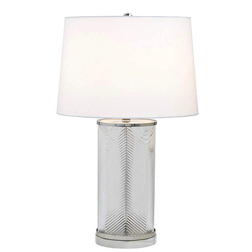 #6618 Herringbone Glass Lamp