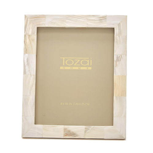 #10819 White Mother of Pearl Frame