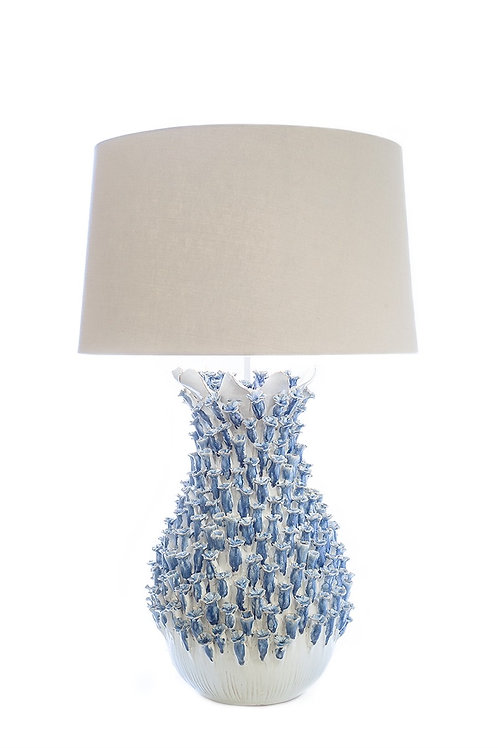 #8653 Blue & White Ceramic Lamp