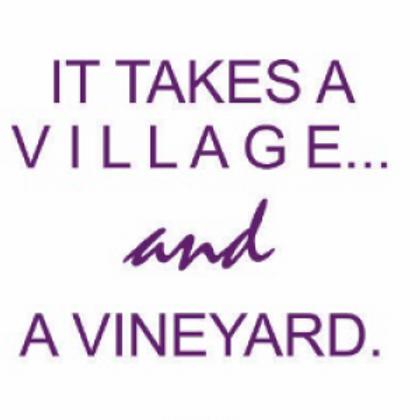 #9794 A Village & A Vineyard Tea Towel