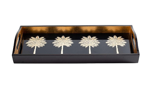 #11702 Grand Palms Lacquer Tray