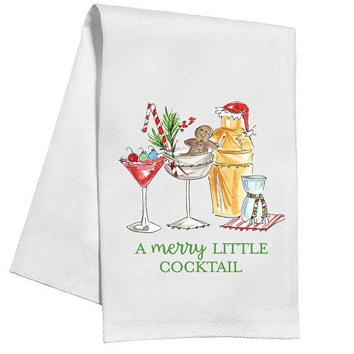 #10147 Merry Little Cocktail Tea Towel