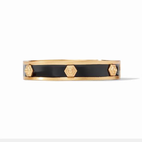#11928 Palladio Enamel Hinge Bracelet (Obsidian Black)