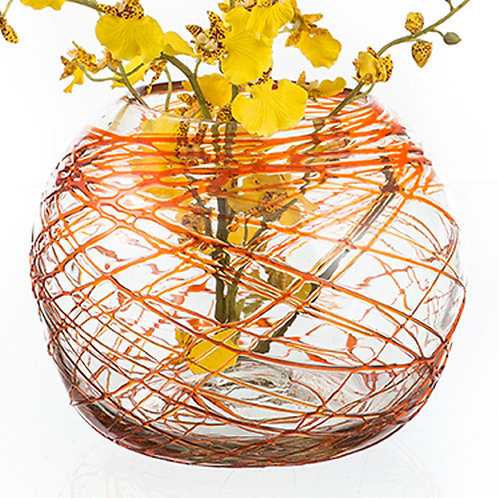 #10753 Fish Bowl (Tangerine Cobwebs)