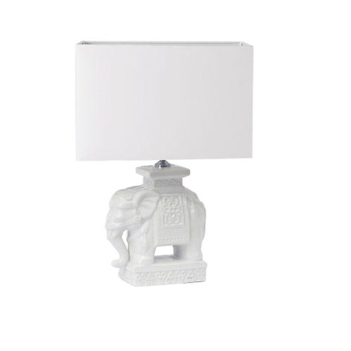 #8317 White Elephant Lamp