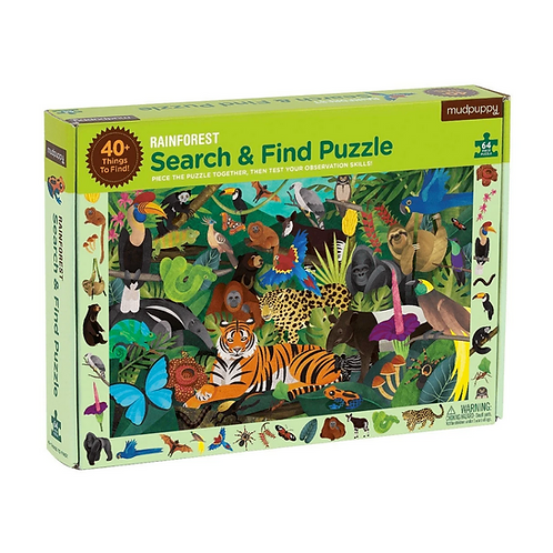 #10224 Rainforest Search & Find Puzzle