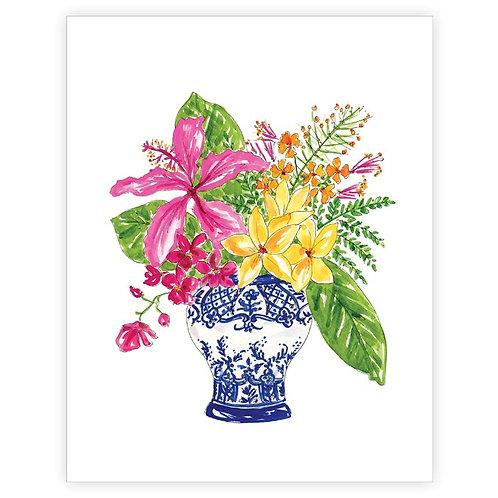 #11107 Floral Arrangement Art Print (Pot)