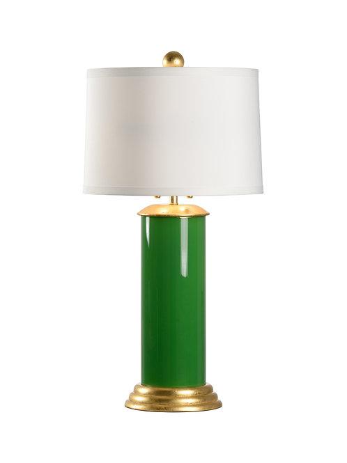 #11908 Green Cylindrical Lamp