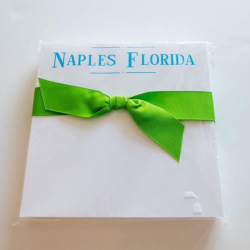 #3882 Jumbo Naples, FL Square Notepad