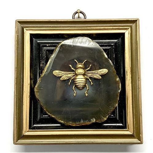 #12330 Painted Frame with Italian Bee on Agate