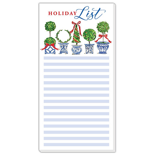#10149 Holiday List Topiary Notepad