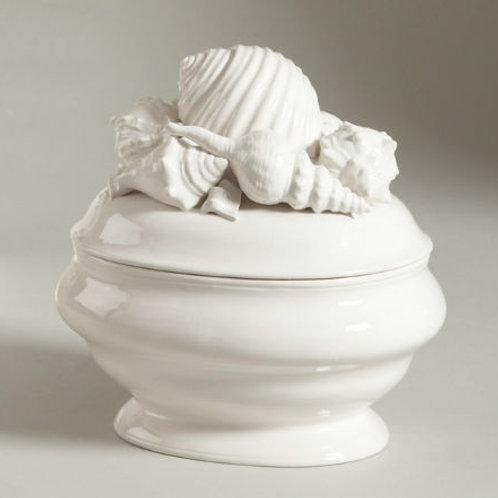 #4959 Shell Ceramic Tureen