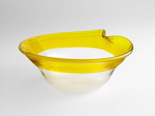 #2873 small yellow edged bowl
