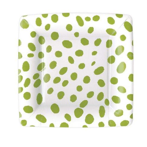 #11712 Salad/Dessert Plate (Spots Green)