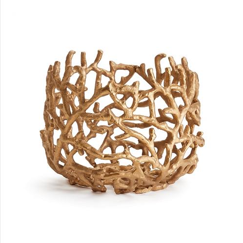 #10873 Gold Coral Vessel
