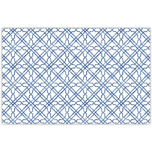 #11781 Blue Cane Trellis Placemats