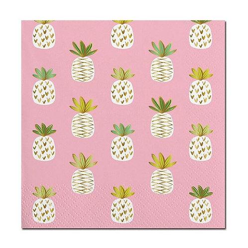 #9998 Pink Pineapple Cocktail Napkins