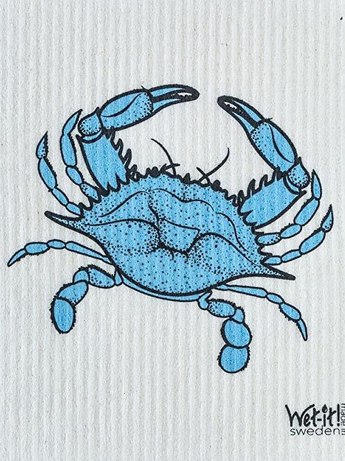 #11081 Blue Crab Swedish Dish Cloth