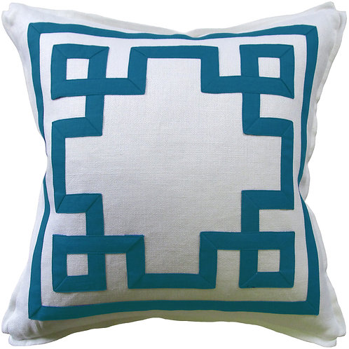 #9663 Fretwork Pillow-Carribean