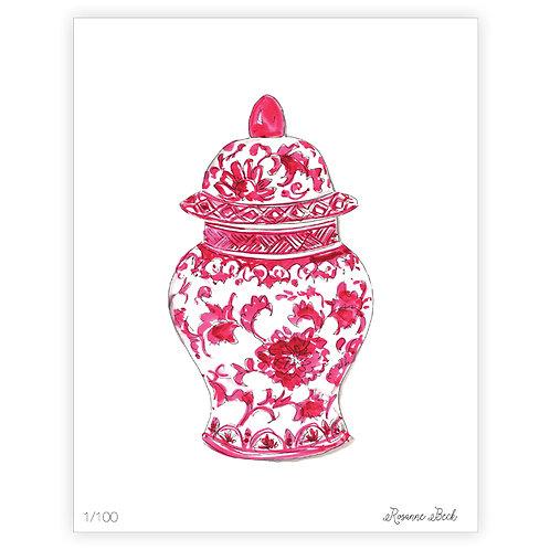 #10188 Pink Ginger Jar Print