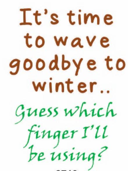 #9777 Bye Winter Tea Towel