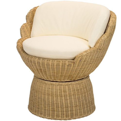 #6695 Scalloped Wicker Chair